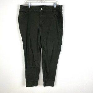Lane Bryant Genius Fit skinny ankle jeans olive